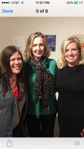 Lezza, Pam and Jen at the Stutz Gallery exhibit on 03-25-16