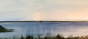 Preliminary painting of a lake near Grayton Beach (2)
