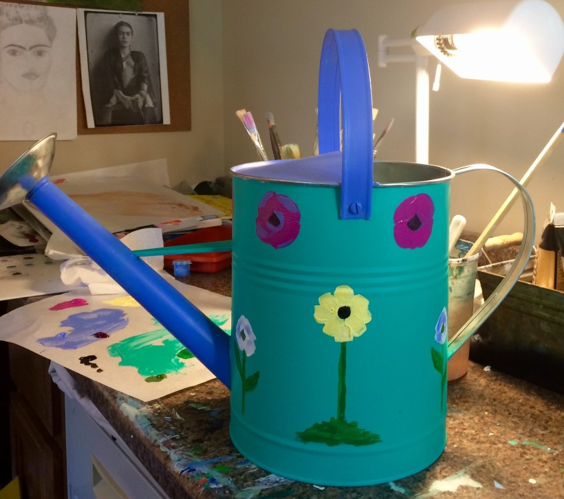 watering can for edible schoolyard